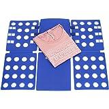 Tenn Well Planche à Plier, Portable, Réglable en Plastique Magique pour T-Shirts, Chemises, la Maison et Voyage (Bleu)