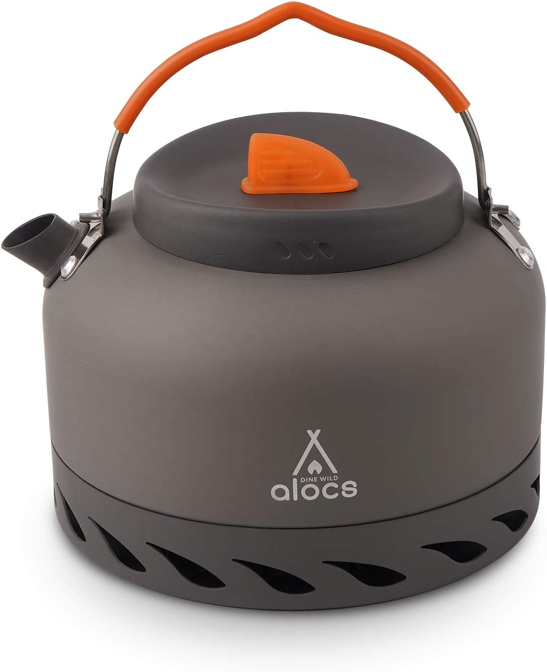 Alocs 1.3L Camping Kettle with Heat Exchanger