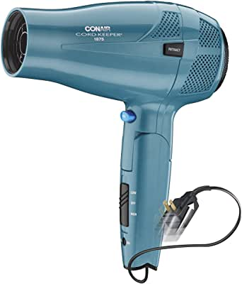 Conair 1875 Watt Ionic Conditioning Cord Keeper Styler/Hair Dryer with Folding Handle; Blue