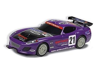 Scalextric 1 32 Scale Gt Lightning Slot Car Purple
