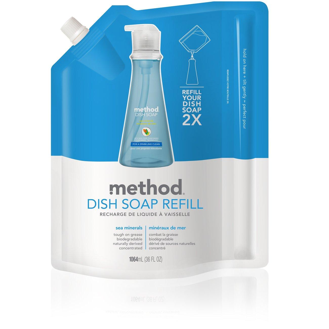 Method Gel Dish Pump Refill, Sea Minerals, 36 Ounce