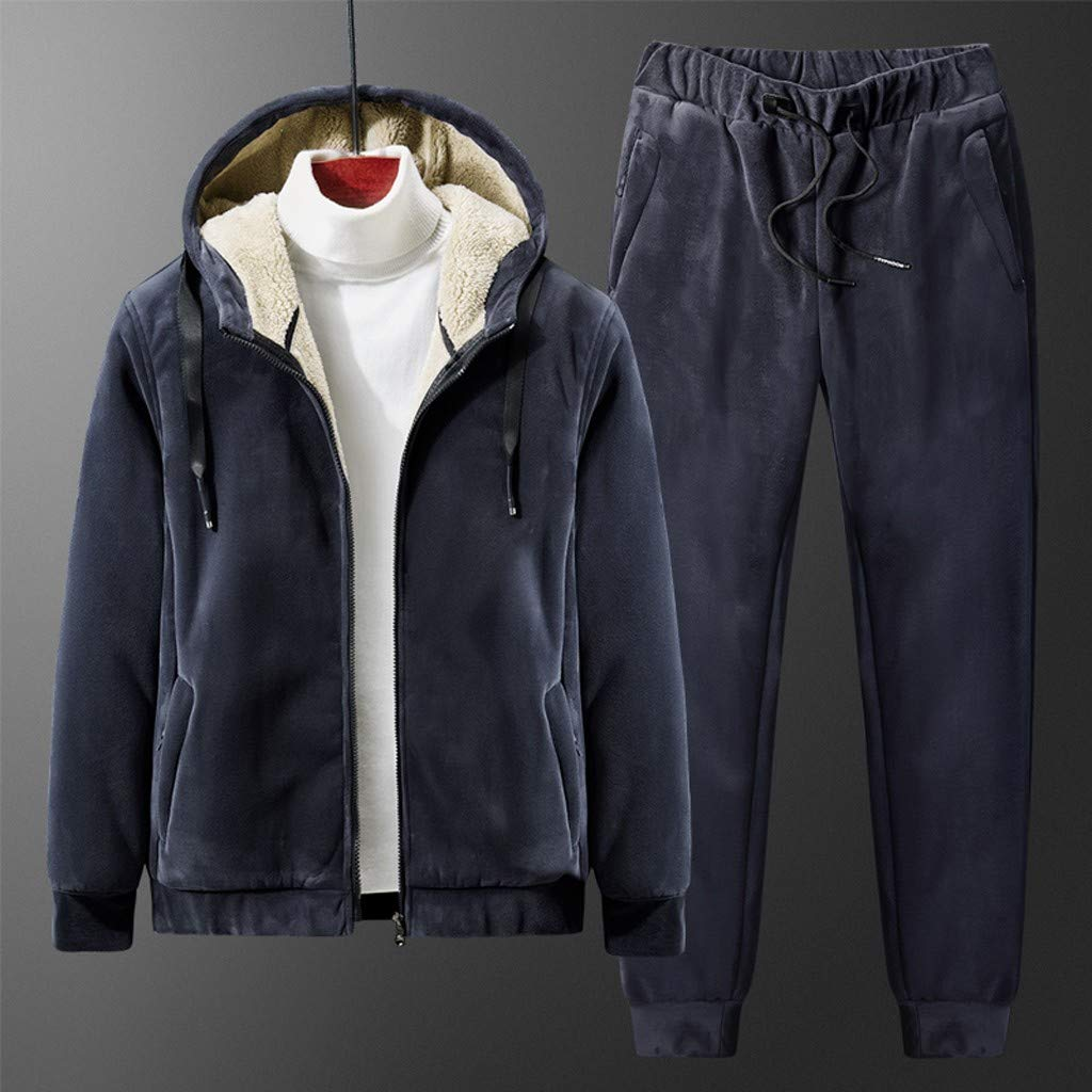 Chándal jogging térmico hombre deportivo abrigo de lana más ...