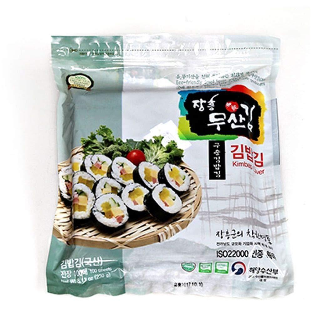 Moosankim Organic Roast Seaweed Full Size 100 sheets, without Acid Treatment