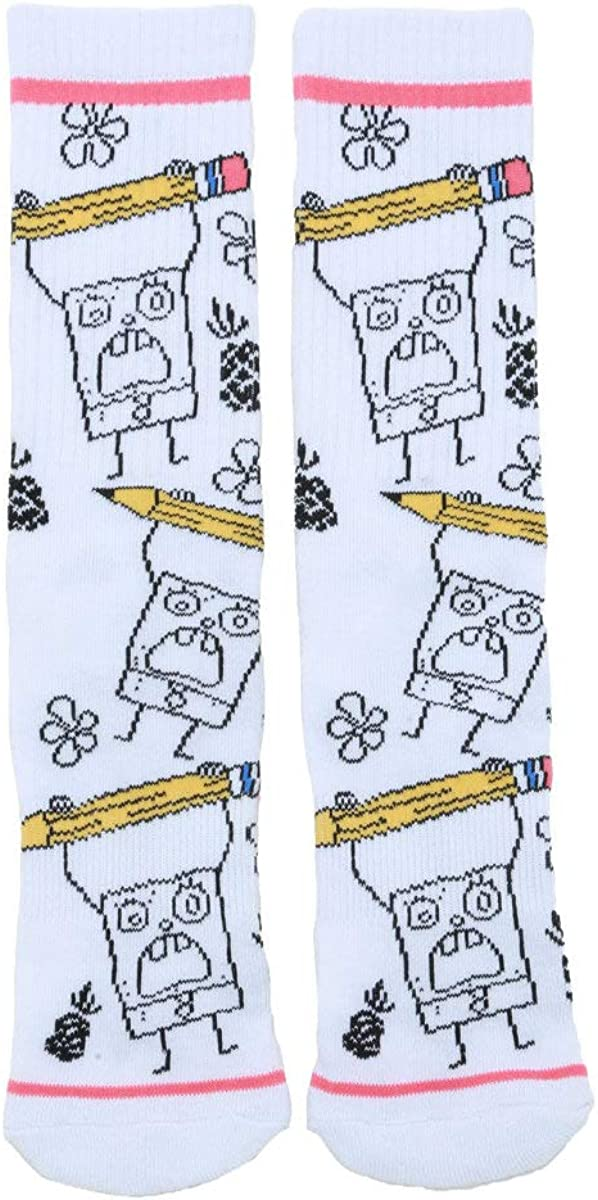 SpongeBob SquarePants DoodleBob Crew Socks MULTI One Size