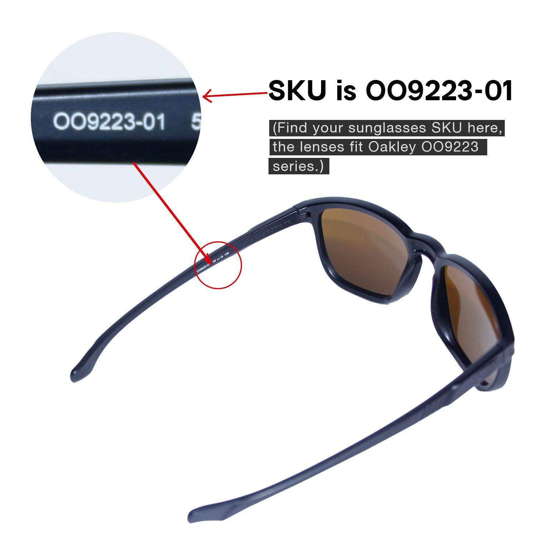 b223bfa691 Walleva Replacement Lenses for Oakley Enduro Sunglasses -Multiple Options  (Black - Polarized) at Amazon Men s Clothing store