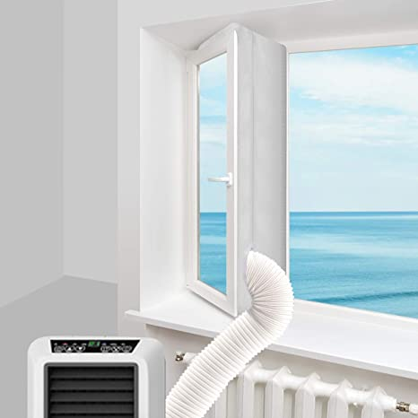 Multipurpose Window Vent for Portable Air Conditioner 15CM Exhaust Tube Window Plate Kit Mobile Air Conditioners Sliding Window Seal Kit