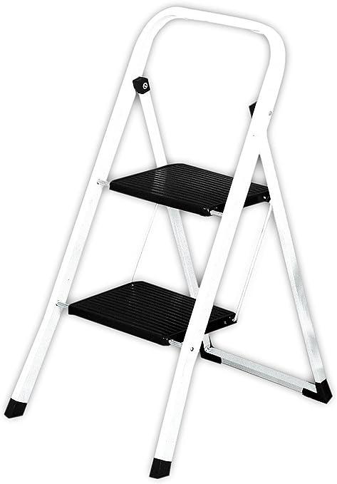 Silbor - Escalera acero 2 peldaños Mod.202: Amazon.es: Bricolaje y herramientas