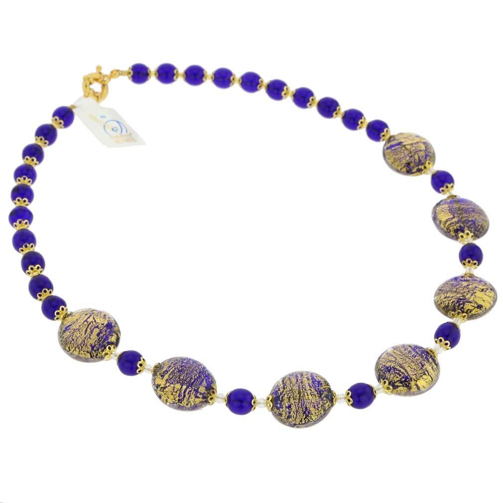 GlassOfVenice Murano Glass Necklace Ca D'Oro - Cobalt Blue