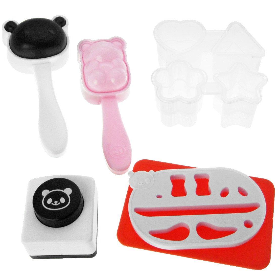 kilofly 2 Bento Rice Ball Mold with Seaweed Nori Punch, Panda + Sushi Shaper Kit AX-AY-ABHI-57596