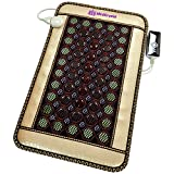 4 Gems FIR Bio Magnetic Mat - Natural Hot Stones - Amethyst Jade Tourmaline Agate - - Far InfraRed Heating Pad - 10Hz PEMF - Negative Ion - FDA Registered Manufacturer (Mini 32''L x 20''W)