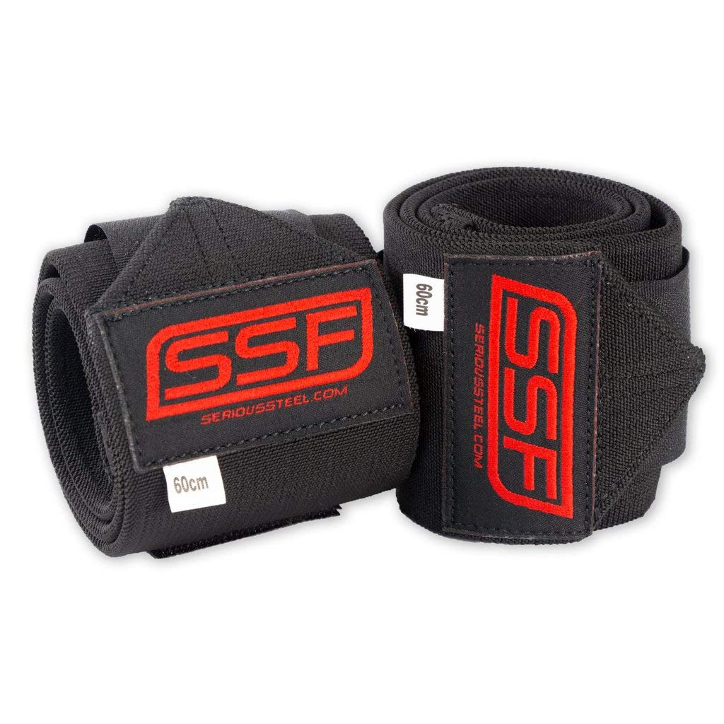 Serious Steel Wrist Wraps Weightlifting /& Powerlifting Wrist Support w//Thumb Loop Sold as Pair! Elite Lifting Wrist Supports