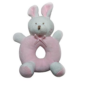 Yeahibaby Sonajero para bebés Peluches felpa Recién nacidos Cuna Juguete Anillo redondo Conejos Conejito Regalos únicos