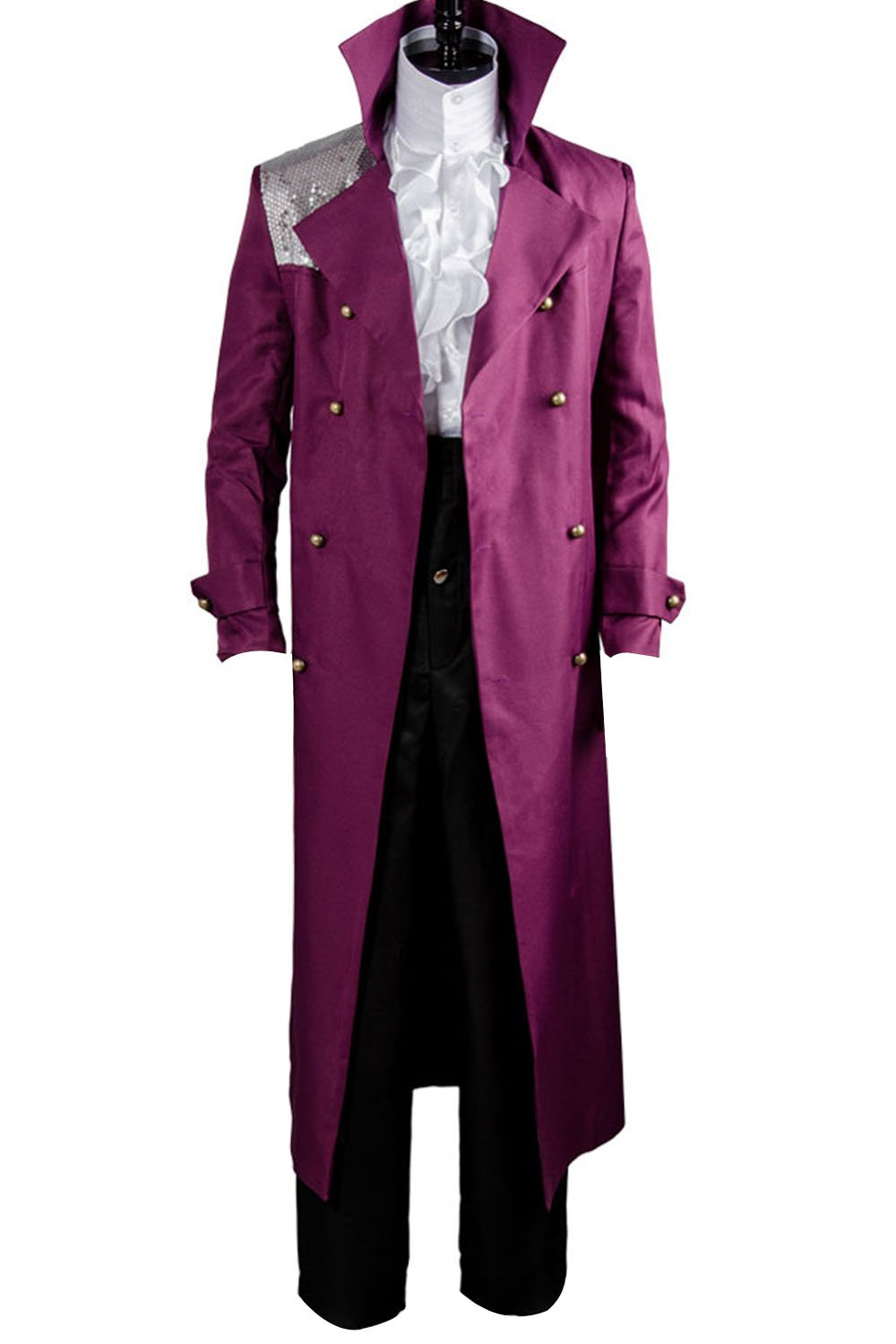 Sidnor Purple Rain Prince Rogers Nelson Costume Shirt Movie Cosplay Outfit Suit by Sidnor