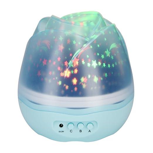 Fdit Luz Proyector Lámpara Proyección Recargable Luz Noche Lámpara ...