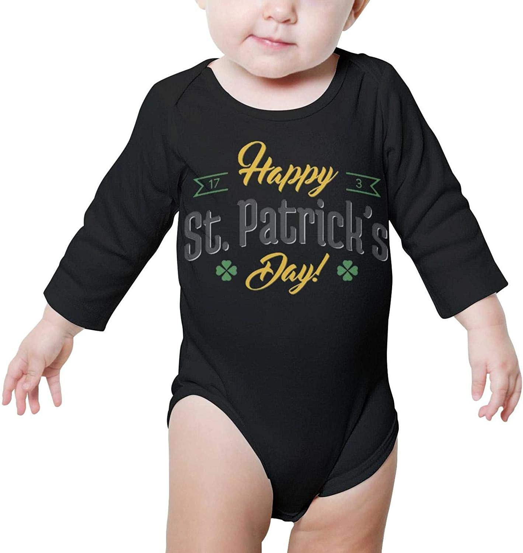 PoPBelle St Patricks Day Female Costumes Newborn Bodysuit Long Sleeve Sleepwear Cotton Rompers