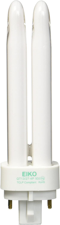 Eiko QT13//27-4P 13W Quad-Tube 2700K G24q-1 4 Pin Base Fluorescent Halogen Bulbs
