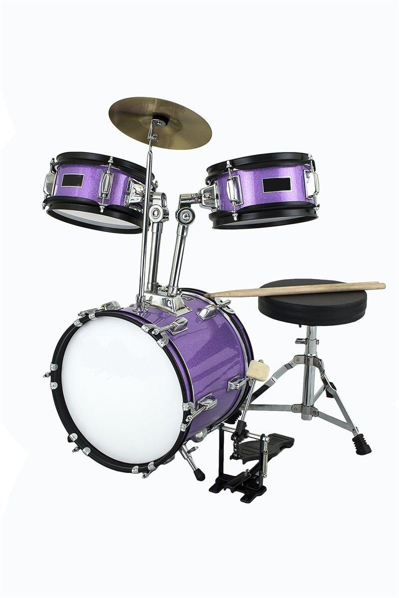 Children S Sparkle Purple 3 Piece 12 Inch Kids Junior Drum