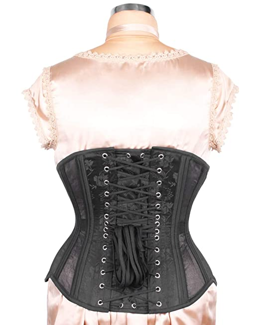 fe4caba2412 Elyzza London Steel Boned Mesh with Brocade Waist Trainer Corset at Amazon  Women s Clothing store