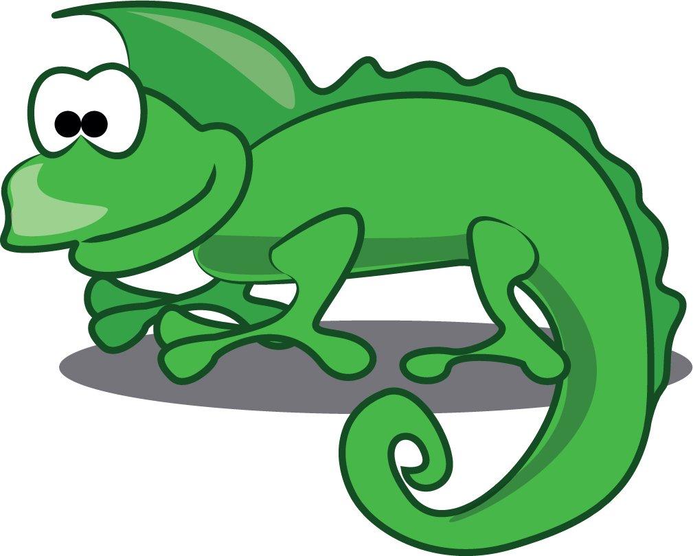 Iguana Cartoon Animal Home Decal Vinyl Sticker 14'' X 11''