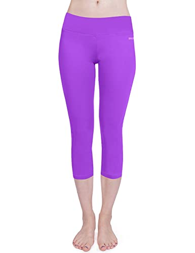 4f693a8c0c97bc Women's Yoga Capri Legging Inner Pocket Non See-through Fabric