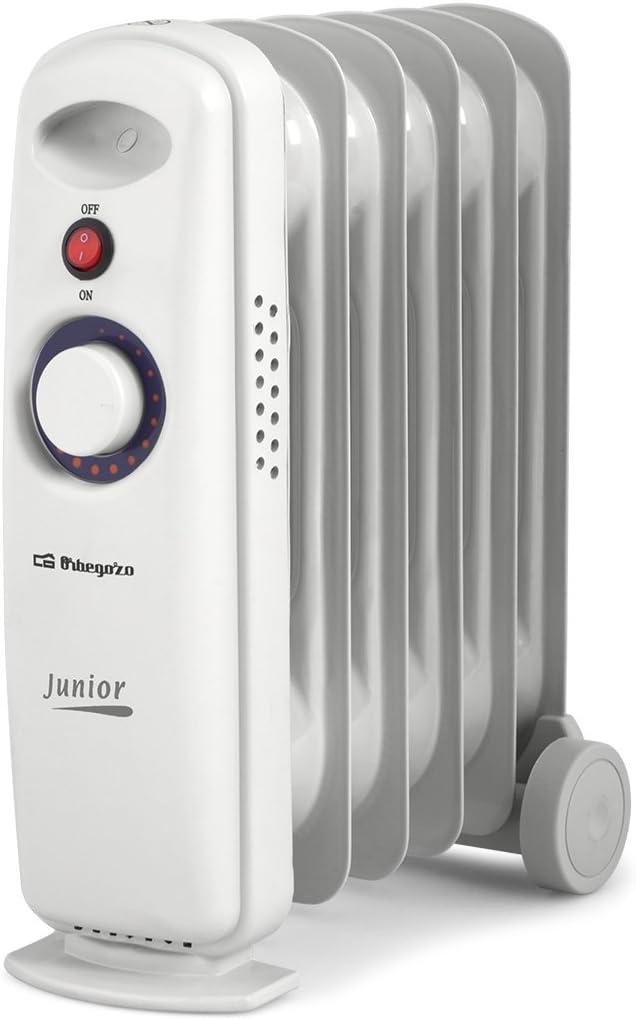 Orbegozo RO 710 C – Radiador de aceite mini, potencia de 700 W, construcción modular y diseño compacto en color blanco