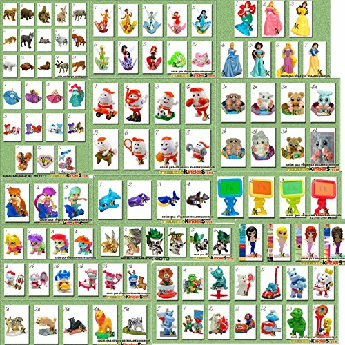 Rustoyshop 20psc For Girls Toys From Kinder Surprise