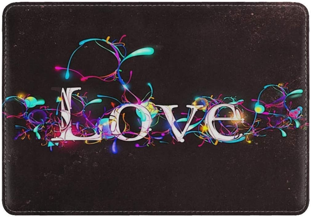 JiaoL Love Lettering Designs Glow Leather Passport Holder Cover Case Travel One Pocket