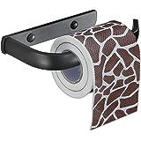 Easeurlife Toilet Paper Holder Wall Mount Bathroom Tissue Holder, Elegant Black