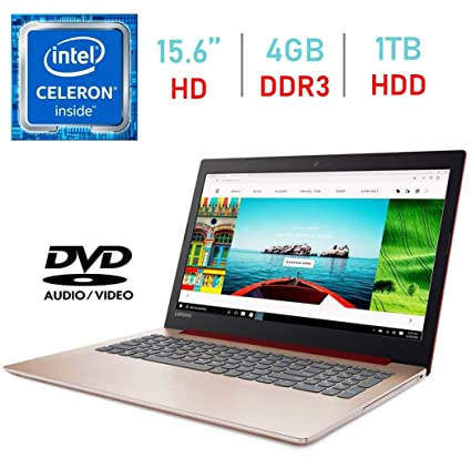 Newest Lenovo IdeaPad 320 15 6-inch HD Anti-Glare (1366x768) Display Laptop  4GB SDRAM 1TB Windows 10 (Intel Celeron, Red)