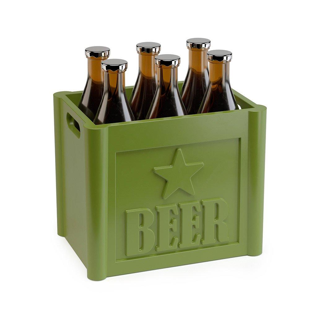 Balvi/-/Beer/Set/de/6/Palillos/para/Aperitivo./con/Forma/de/Caja/de/Cervezas./