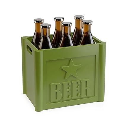 Balvi - Beer Set de 6 Palillos para Aperitivo. con Forma de Caja de Cervezas
