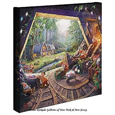 Thomas Kinkade - Gallery Wrapped Canvas , Snow White and the Seven Dwarfs , 14  x 14  , 67811