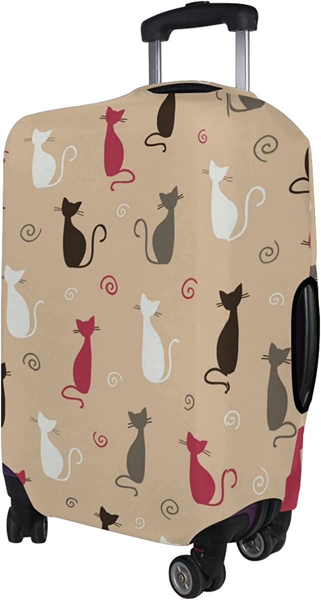 LAVOVO Colorful Cats Luggage Cover Suitcase Protector Carry On Covers