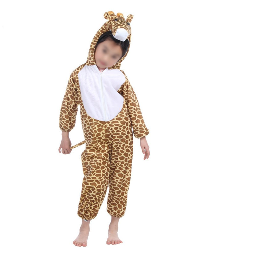Children's Giraffe Costume Kids Animal Costumes for Halloween Cosplay Performance - Size M for Height 90-105cm