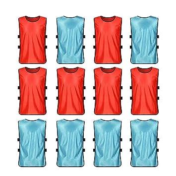 VORCOOL Petos de Futbol para Niños y Jóvenes Petos Deportivos - Tamaño S  (Azul Claro 9e07a7d977bc3