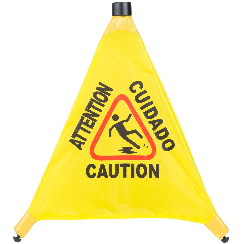 20'' Pop-Up Safety Cone Wet Floor Sign by TableTop King