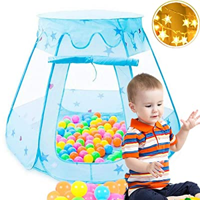 VBY Toddler Play Tent with Star Lights - Kids Pop up Tent Girls Boys Playhouse Princess Castle Children Indoor & Outdoor Toys- Balls Not Include: Toys & Games