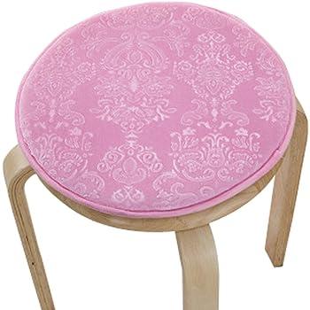 Amazon Com Upscale Velvet Art Round Seat Cushion Round