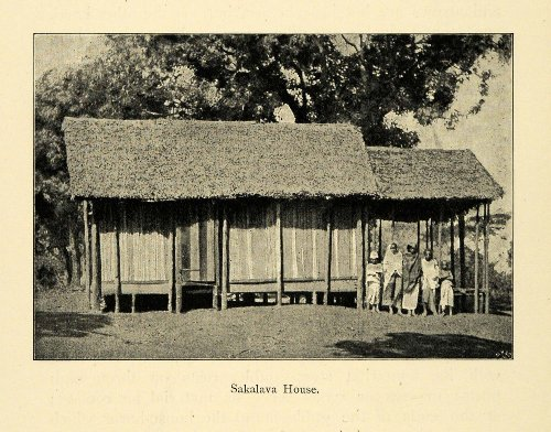 1901 Print Sakalava House Madagascar Cultural Architecture Thatched Grass Roof - Original Halftone Print - Thatched Grass