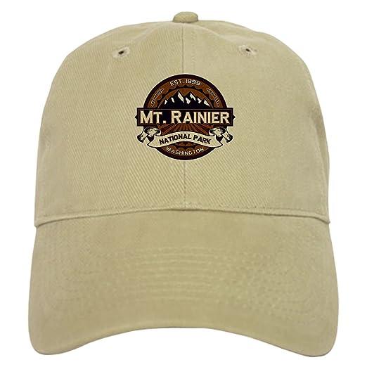 CafePress - Mt. Rainier Vibrant - Baseball Cap with Adjustable Closure 2cbb7830bc53