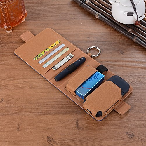 for for Kit Light Bag Cigar E Pouch Cigarette IQOS Cigarette Electronic Anti Travel Cover Carrying Box Blue Case Protective Holder Portable Scratch Case Shell Wallet Black xHXqa0SB