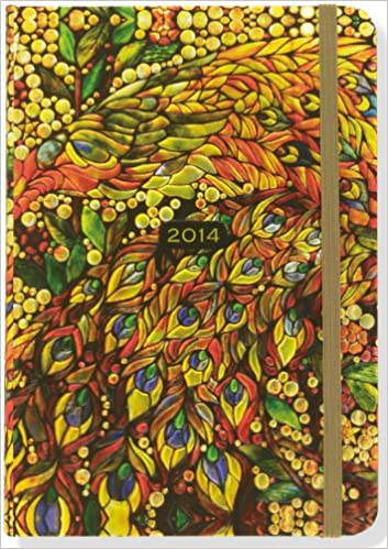 2013 stained glass 16 month weekly planner compact engagement calendar