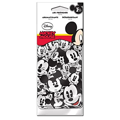 LA Auto Gear Mickey Mouse Classic Expressions Faces Heads Disney Cartoon Character Vehicle Car Truck SUV Home Office Garage 2 Pack Air Freshener - Pair: Automotive