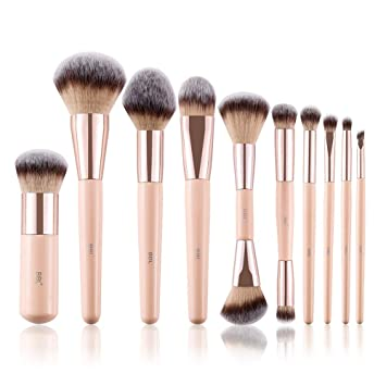 5bd1c9e0807c BBL Professional Makeup Brush Set, Premium Synthetic Hair Cosmetic Angled  Dual Ended Contour Foundation...