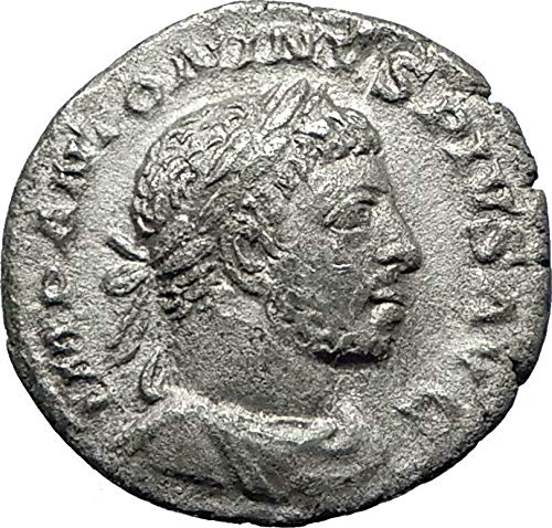 221 IT ELAGABALUS sacrificing over altar 221AD Rome Anc coin ()