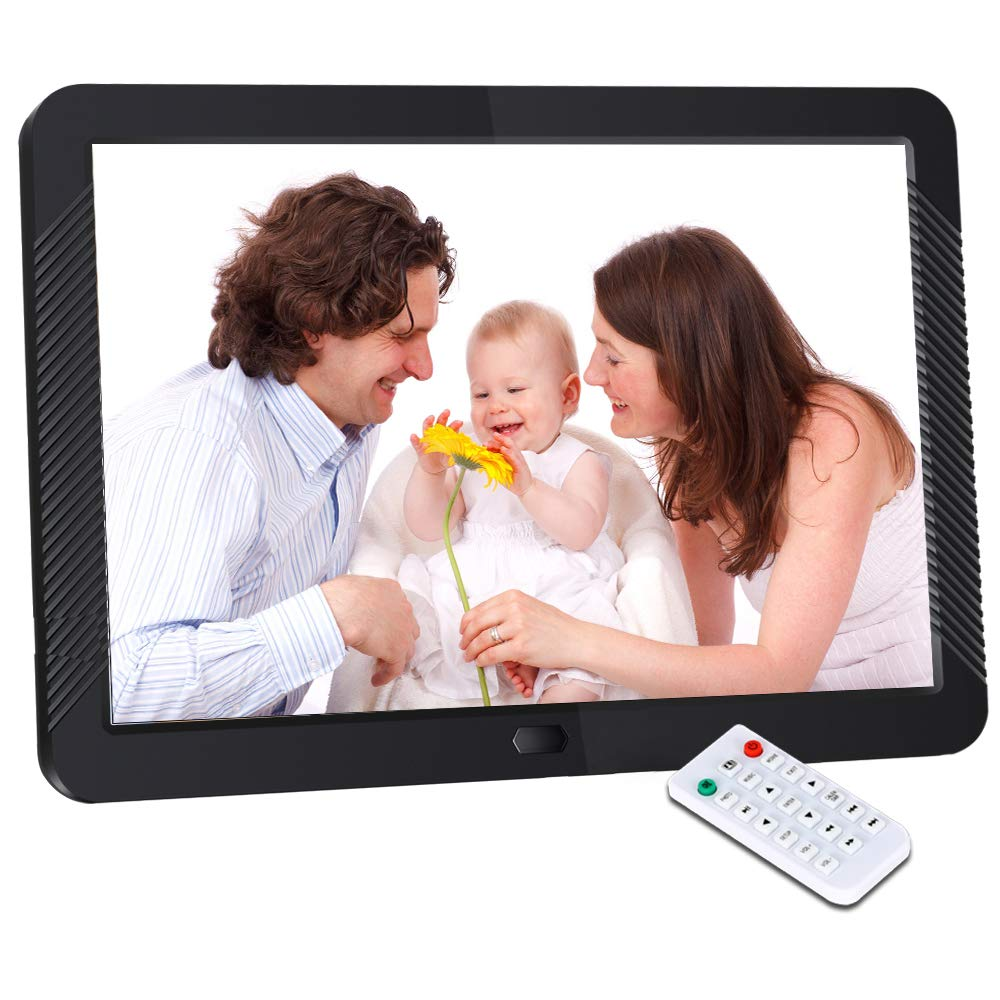 Digital Picture Frame 8 Inch Digital Photo Frame HD 1920X1080P with Remote Control 16:9 IPS Display Electronic Auto Slideshow Zoom Image Stereo Video Music Player Support USB SD Card 180° View Angle by Pofeite