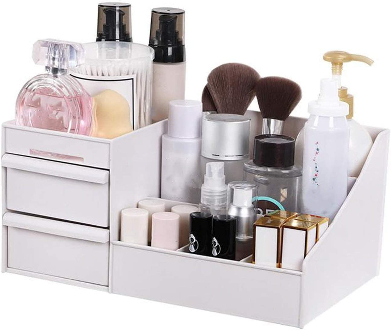 Organizador de escritorio para el cuidado de la piel, para cosméticos, joyas, artículos de maquillaje, artículos de papelería, estuche para uñas, contenedor: Amazon.es: Oficina y papelería