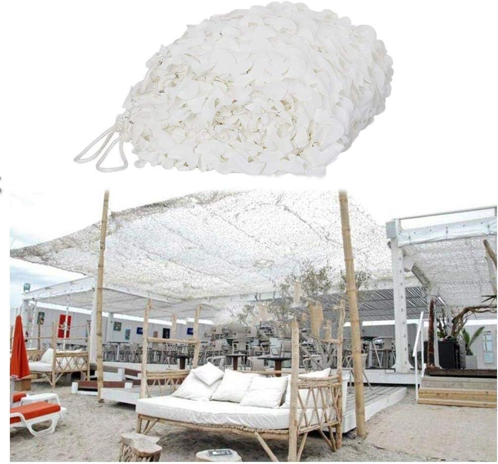 庭3×4mのための日焼け止めネット、防火網/耐火性のテントのための迷彩の網の陰の網の白い日除けのカモフラージュの網 (Size : 5*10M(16.4*32.8ft))  5*10M(16.4*32.8ft)