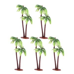 LIOOBO 5PCS Mini Coconut Palm Tree Model Craft DIY Bonsai Micro Landscape