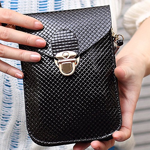 Handbag Body Handbag Skyeye Over Cross Shoulder Bag Phone Bag Black Crossbody Girls Women Bag Leather Ladies Bag for Pouches Messenger Messenger Tote Bags OSnOYwzrq